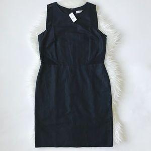 NWT LOFT Linen Cotton Eyelet Sheath Dress